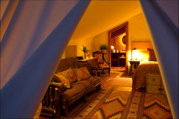 Tents at the Clayoquot Wilderness Resort have a luxury-safari vibe to them.