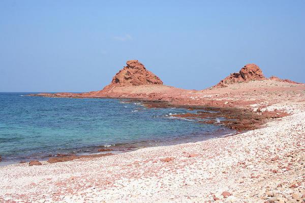 The barren, moon-like beach at Socotra Island