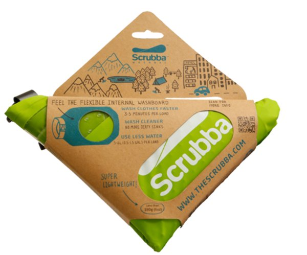 The Scrubba Wash Bag is like a modern version of the old-fashioned washboard.