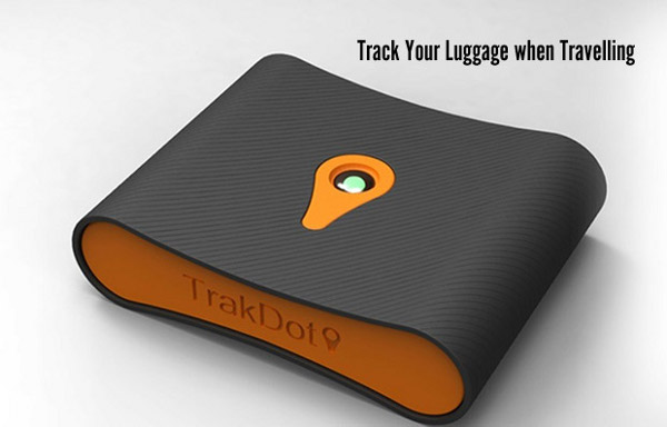 The Trakdot Luggage Tracker helps you pinpoint lost suitcases.